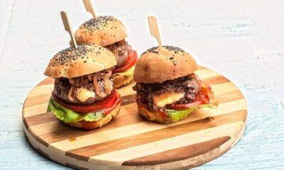 mini gemista burger me pswmi mprios