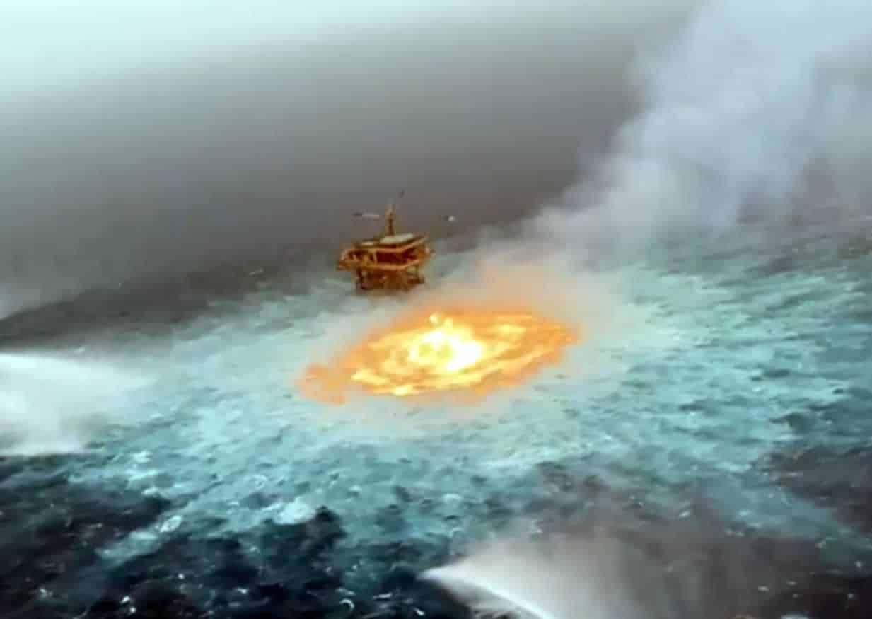Διαρροή αερίου στην θάλασσα του κόλπου του Μεξικό, προκάλεσε ένα απίστευτο φαινόμενο το οποίο πραγματικά ομολογούμε ότι δεν έχουμε