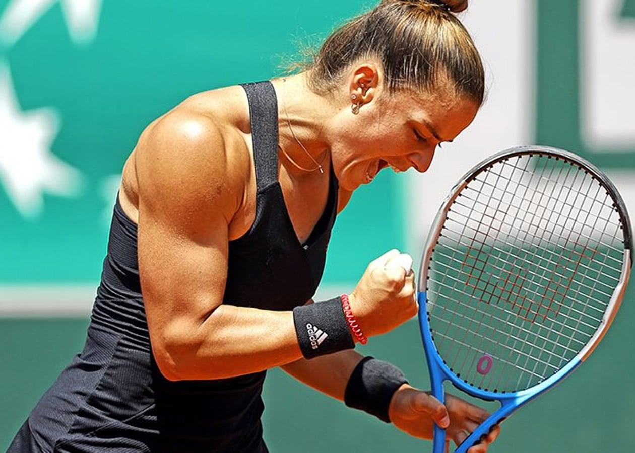 Πριν από λίγες ημέρες, η Μαρία Σάκκαρη δήλωσε πως γνωρίζει ότι μπορεί να φθάσει μακριά σ΄ ένα Grand Slam. Και φρόντισε να το αποδείξει σήμερα
